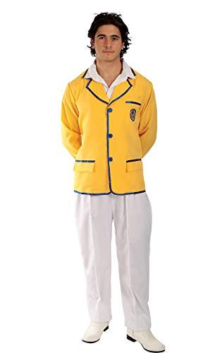 ORION COSTUMES Disfraz de Acampadora Feliz Chaqueta de Representante Turstico Amarilla de los aos 80 para Hombres