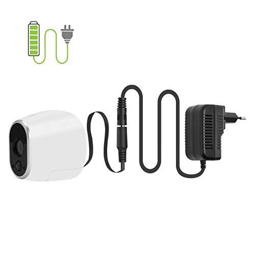 Netzteil Adapter und Kabel kompatibel mit Netgear Arlo Überwachung Kamera VMC3030 Smart Home Zubehör (EU Stecker, Schwarz)