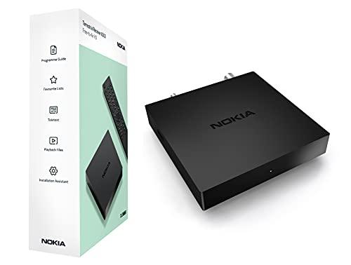 Nokia Decoder Digitale Terrestre DVB-T/DVB-T2, HD, ricevitore terrestre, con telecomando, HDTV, Dolby Digital Plus, HDMI, USB 2.0, H.264, HEVC H.265