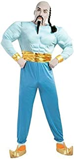 Mens Blue Arabian Genie Book Day Film Halloween Fancy Dress Costume Outfit