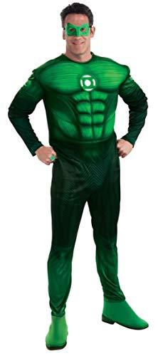 Rubbies - Disfraz de Hal Jordan Linterna Verde para hombre, talla XL (UK 44-52) (889986XL)