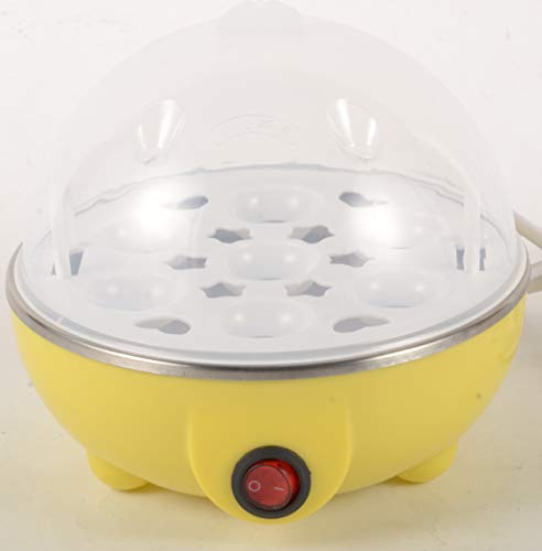 Rapid Egg Cooker: 6 Egg Capacity Electric Egg Cooker for Hard Boiled Eggs, Poached Eggs, Scrambled Eggs, or Omelets with Auto Shut Off Feature...