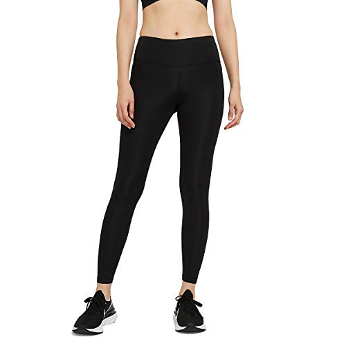 NIKE CZ9240-010 W NK Epic Fast TGHT Leggings Womens Black/(Reflective silv) XL