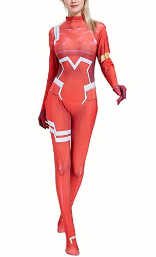 Yewei Japanese Anime FRANX 002 Kostüm Overall Damen Kind Comic Cosplay Bodysuit (Rot, M)