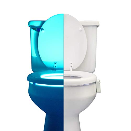RainBowl Motion Sensor Toilet Night Light - Funny & Unique Birthday Gift Idea for Dad, Mom, Him,...