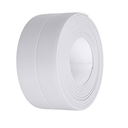 Kissral Wasserdichtes Klebeband für KüChen und Badezimmer Dichtband Selbstklebend Weiß Dichtungsband Anti-Mehltau für Waschbecken Toilettenkante Window Ecke Antikollision 3.2m*3.8cm