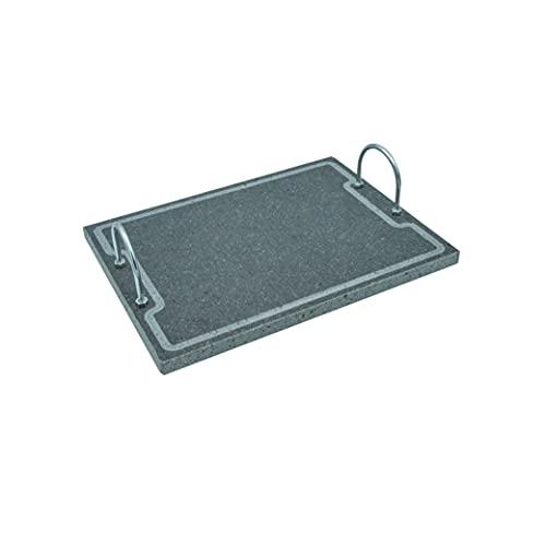 Lava Grill Plus 40 x 30 cm parrilla con asas piedra volcánica etnea placa lijada para horno y barbacoa cocción carne, pescado, verduras y pizza Etna Stone & Design