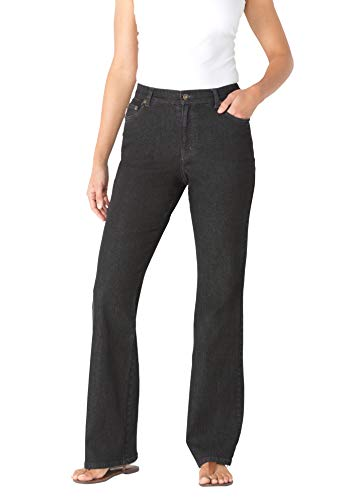 Woman Within Women's Plus Size Bootcut Stretch Jean - 20 W, Black Denim