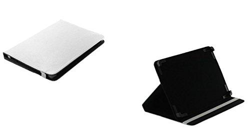 Bookstyle Tablet PC Tasche Etui Hülle Book Case weiß mit Aufstellfunktion passend für Asus ZenPad 10