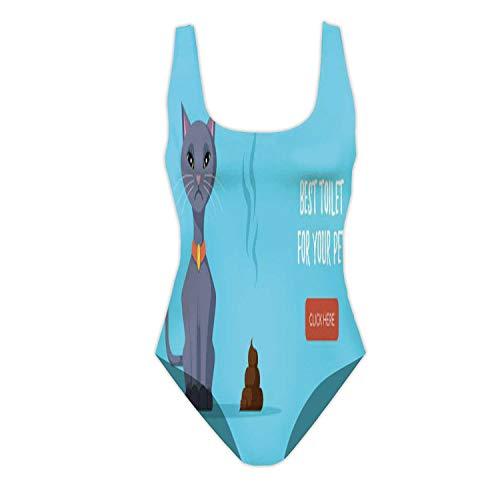 C COABALLA Best Toilet for Your Friend Belarus,Girls' Solid One Piece Swimsuit for Diving Feces XL