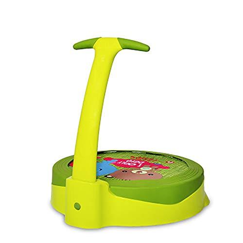 20 Inch Portable Fitness Trampoline - Sport Trampoline voor binnen en buiten gebruik - Professional Ronde Jumping Cardio Trampoline - Veilig voor Kid met Handlebar