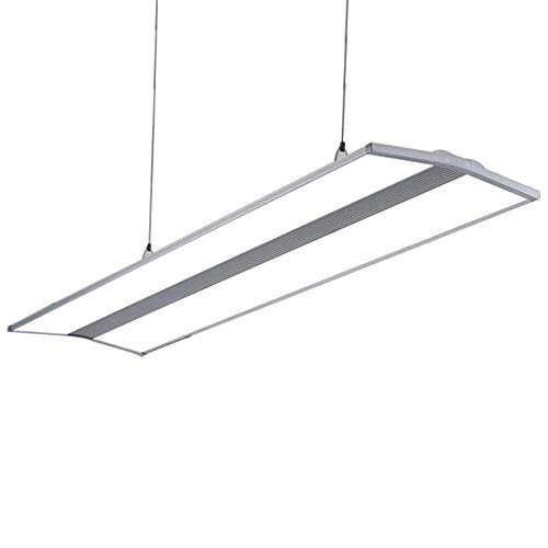 Büro LED Pendelleuchte Panel Hängeleuchte, Weiß Licht 6500K, Modern Rechteck Design Leuchte, Büroleuchte Esszimmer Arbeitszimmer Beleuchtung, LED-Flat Lampe, Bürogebäude Hängelampe,120cm * 30cm 36W