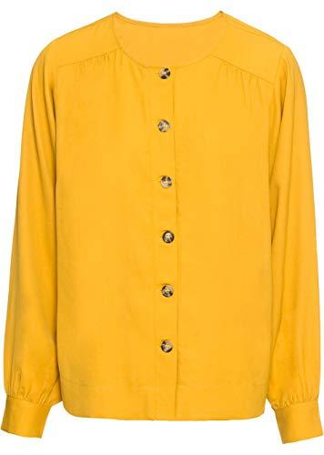 Versandhaus Damen Bluse mit Knöpfen, 300052 in Gelb 44