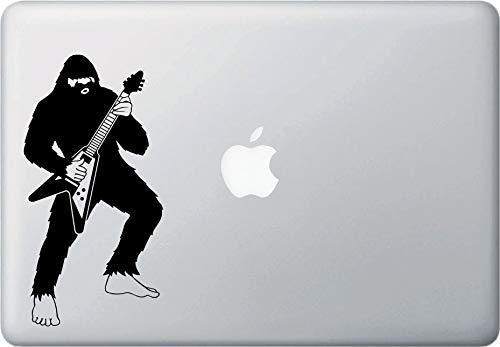 DKISEE Sasquatch Rocks Out On Flying V Gitaar Bigfoot Gitaar Solo Vinyl Laptop Decal MacBook Sticker Vinyl Sticker Laptop Vinyl Decal Window Muursticker Auto Sticker 8 inch Onecolor
