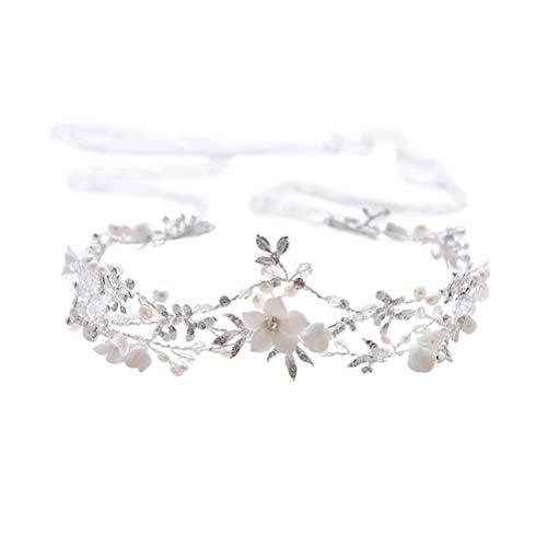 Nuptiale Bandeau Perle Cristal Bandeau Bandeau Couvre-chef Accessoires de robe de mariée (D2178)