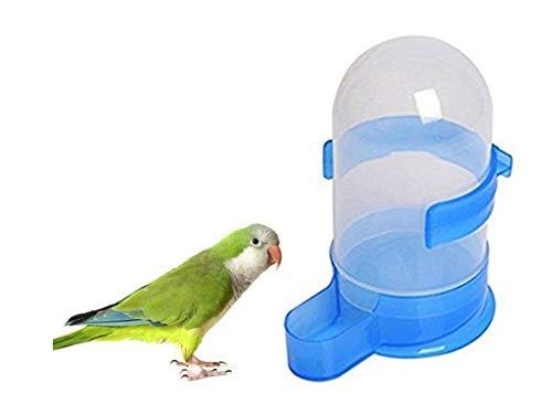 Fliyeong 1x Birds Water Bottle Blaues Wasser Futterautomat für Vögel Papageien Tauben Klein Langlebig und praktisch