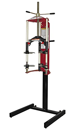 Myers Tire Supply Branick All Steel Construction 7600 Strut Compressor with Versatile Mounting Options and Multi-Purpose Hooks for Compressing Coil Springs up to 3,000 lbs, & Branick 764 Mobile Cart
