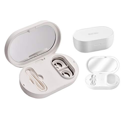 JHM-56000 HZ Limpiador Ultrasónico Profesional para Lentes de Contacto Máquina con Cargador USB para Eliminación Lente Blanda Lente de Contacto Lente de Color