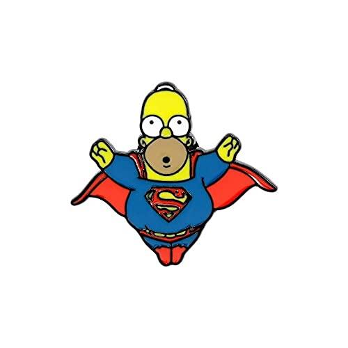 Homer Simpson Superheroe Pin Broche de Metal Esmaltado
