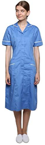 Mirabella Health & Beauty Damen Medizin Und Pflege Kleid Kingfisher Krankenhaus blau-Weiß Gr. 38