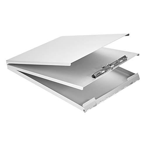 AmazonBasics Portapapeles de aluminio, 32 x 23 cm, carpeta para formularios