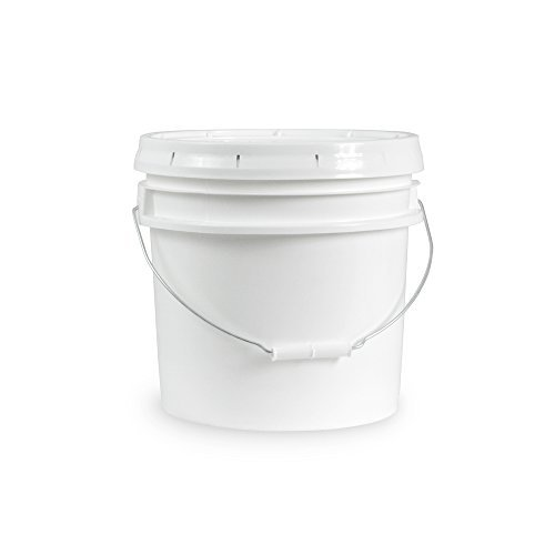 3.5 Gallon Janitorial White Bucket with LId - Durable 90 Mil All Purpose Sanitation Supplies Pail - Multi-Purpose Industrial Buckets (Pack of 1)