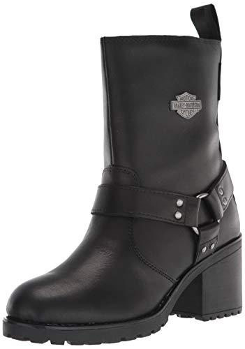 "HARLEY-DAVIDSON FOOTWEAR Women's Howell 7"" Harness Motorcycle Boot, Black, 6.5"
