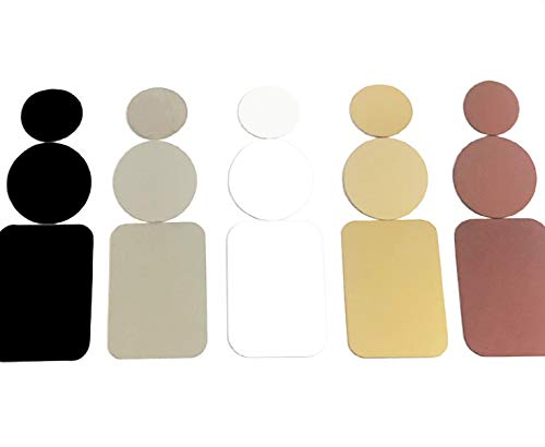 Metal Plate for Magnetic Mount Universal Replacement Plate Metal Disc with Strong 3M Adhesive for Car Mounts in Black, Grey, Silver, White, Gold and Rose Gold by Smart Solutions (White, 30mm Round)