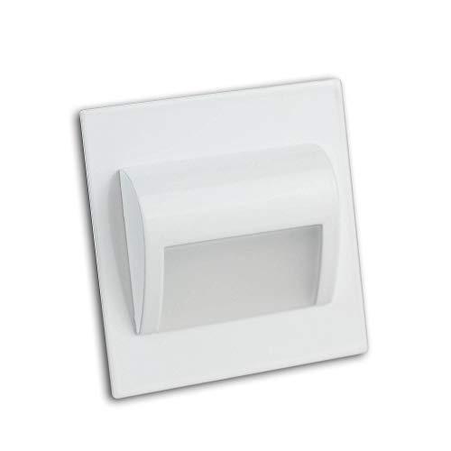 éclairage d'escalier blanc LED aluminium carré - convient également comme éclairage mural marches - éclairage d'escalier - lampe murale