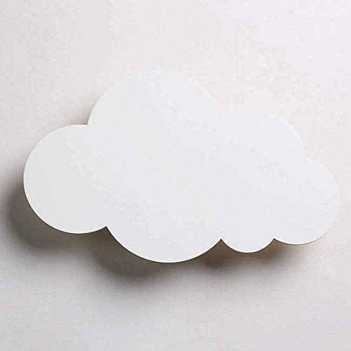 Cloud Forme Wall Light - Moderne Creative Led Applique - Chambre Sconce - Lampe mignon fille nuit enfants lampe mur,F,37 * 23cm