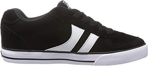 Globe Encore-2, Zapatillas de Skateboard Hombre, Multicolor (Black/White), 44 EU (10.5 US)
