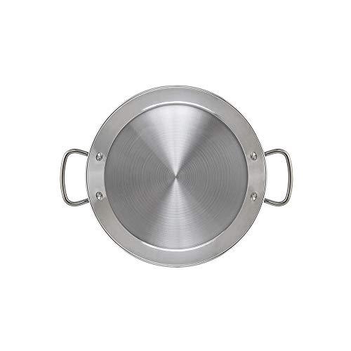 Metaltex - Paellera INDUCCION Acero Inoxidable 7 Raciones (36 cm)