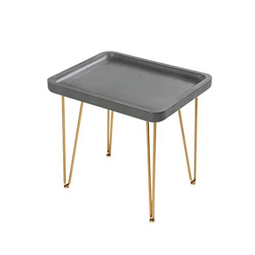 Côté Petite table basse Table d'appoint Nordic Iron art Simple Canapé en ciment imitation balcon Salon