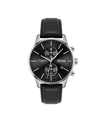 Hugo BOSS kwarts horloge met lederen armband 1513803