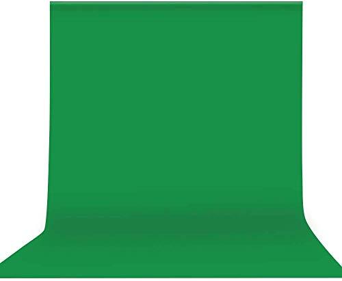 Aokeou 6,5 x 10 ft Fotografie Hintergrund, grüner Chromakey Musselin Hintergrund Bildschirm für Fotografie, Video und Fernsehen - Sofabezug, Bettdecke (Green)