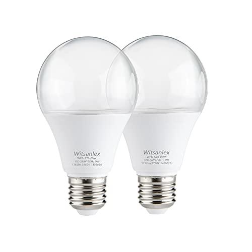 2 Pack A70 Sunlike Grow Light Bulb, E26 110V 9W Full Spectrum LED Plant Light Bulb for Indoor Plants, Flowers, Greenhouse, Indore Garden, Hydroponic