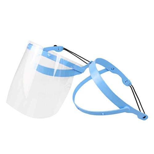 Healifty zahnärztlicher Gesichtsschutz Einstellbare Dental Full Face Shield Mundhygiene Gesichtsmaske mit 10 Kunststoff-Schutzfolie