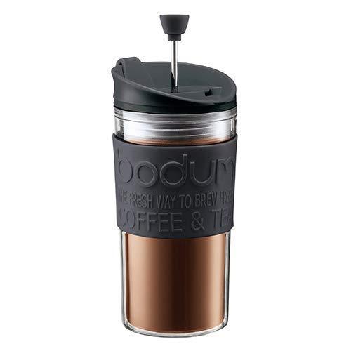 Bodum K11102-01 Travel Press Set Kaffeebereiter mit extra Trinkaufsatz, 0.35 l