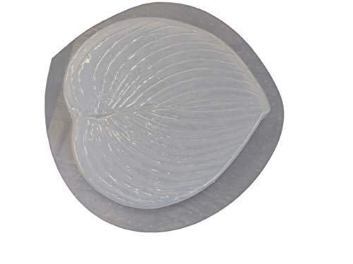 Hosta Leaf 8in Stepping Stone Concrete Plaster Mold 1250