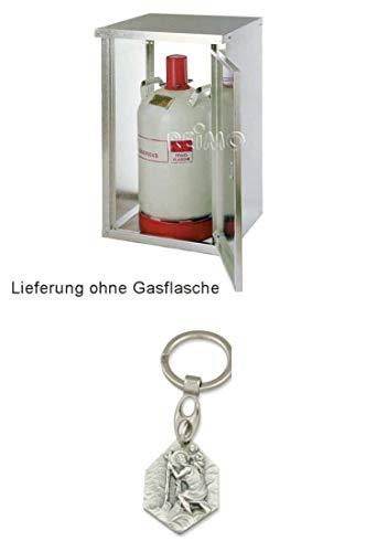 GOK Gasflaschenschrank 2-Flaschenschrank 2 x 11 Kg für Gasflasche mit Rückwand