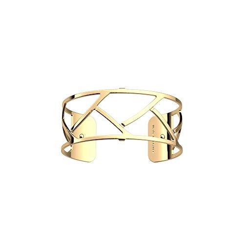 Les Georgettes Bracelet pour femme – Les Essentielles Tresse – Medium – Couleur : doré – Largeur : 25 mm