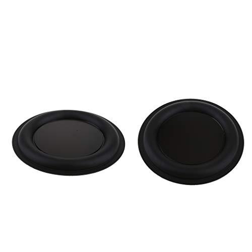IPOTCH 2pcs 6,5 Zoll Bass Lautsprecher Speaker Passiv Gummi Vibrationsplatte, 160mm