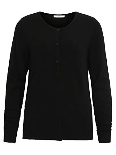 Vila Clothes Viril L/s Knit Cardigan-Noos Chaqueta Punto, Negro (Black), 34 (Talla del Fabricante: X-Small) para Mujer
