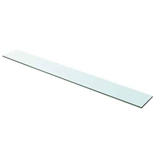 Glasboden Glas Regalboden Glasscheibe Glasplatte Einlegeboden Glasablage, Max. Tragfähigkeit 15 kg, für Glasregal Transparent