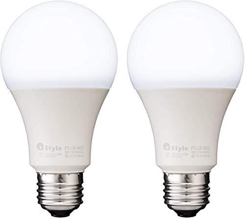 【 Style ORIGINAL】スマートLED電球 E26 (調光・調色) 2個セット 昼白色 電球色 LED電球 60W 810lm スマート 調光 調色 ハブ ブリッジ不要 日本メーカー製 Amazon Alexa/Google Home 対応 ※調光機能付きのソケット、照明器具には非対応
