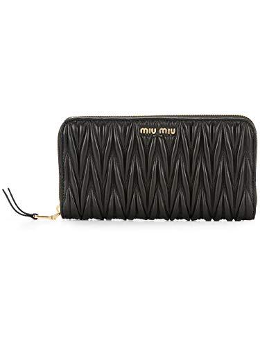 Miu Miu Luxury Fashion Damen 5ML506N88F0002 Schwarz Leder Brieftaschen | Frühling Sommer 20