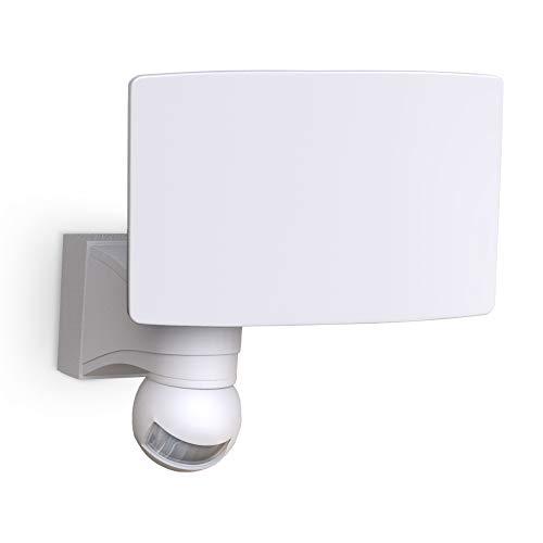 B.K.Licht LED Wandleuchte I Fluter mit Bewegungsmelder I Außenleuchte I Wandlampe I weiß I inkl. 20W LED Platine I 2300lm I 4000K neutralweiß I IP44