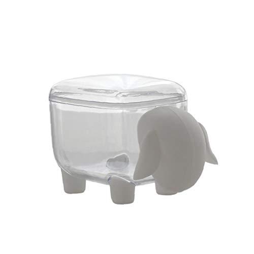 LAANCOO Esponja de algodón sostenedor Creativo ovejas sahped Pequeño Q-Tips Palillos del Organizador del almacenaje a Prueba de Polvo de Escritorio Caja de Almacenamiento (Blanco)