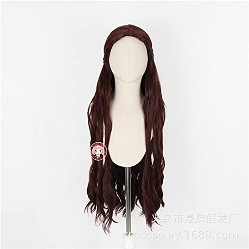A Song Of Ice And Fire Game Of Thrones Melisandre Cosplay Wigs Women Long Wavy Hair Festival Party Costume Wig D-2309