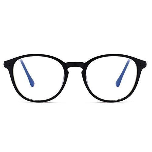 YUANP Lesebrille Anti-Blaulicht Männer Und Frauen Beleuchten TR90 Stilvolle Komfortable Einfache Tragbare Lesebrille,Black-+2.00